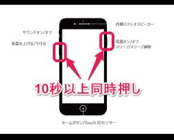 iPhone7の再起動の仕方。スマレンジャー難波店
