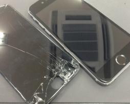 iphone6sの画面割れ修理とモバイル保険加入!スマレンジャー平野店