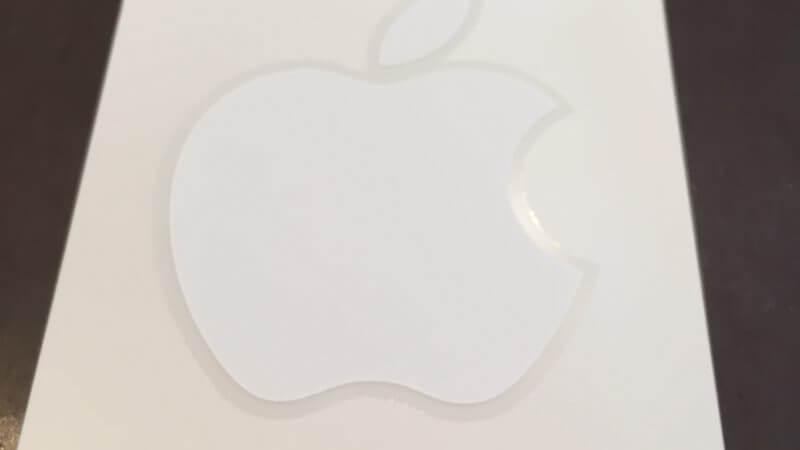 iphoneの付属品リンゴマークシールについて!