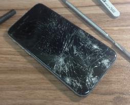 iphone6 ブラック 画面修理しました!スマレンジャー平野店