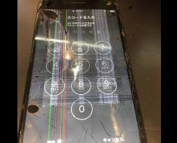 画面割れ、縦線が入ったiphone6の修理