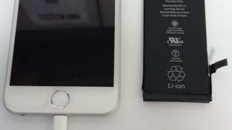 iphone6のバッテリーを交換しました!iPhone(アイフォン)修理戦隊!スマレン ジャー【大阪から全国 20店舗】