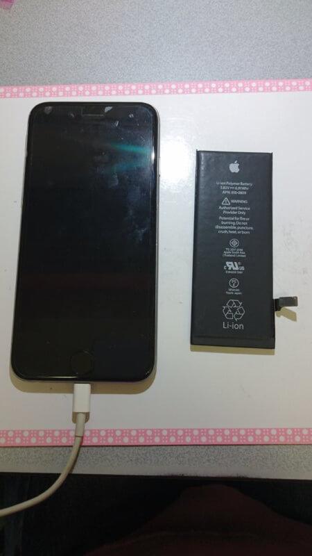 iPhone6のバッテリー交換。iPhone(アイフォン)バッテリー交換、修理 ならスマレンジャー【格安で即日対応】