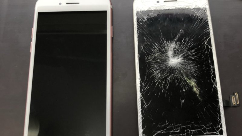 iphone7の画面交換を行いました。| iPhone修理|データそのまま最短15分!スマレンジャー|大阪から全国へ!