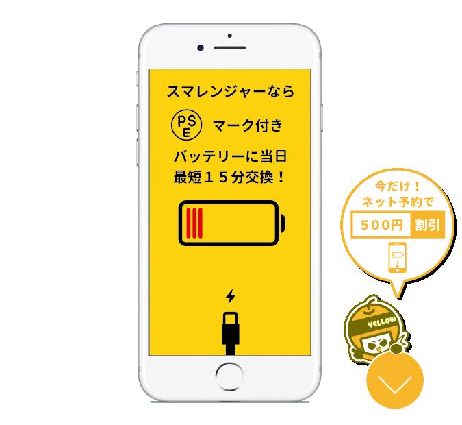 バッテリー交換500円びき