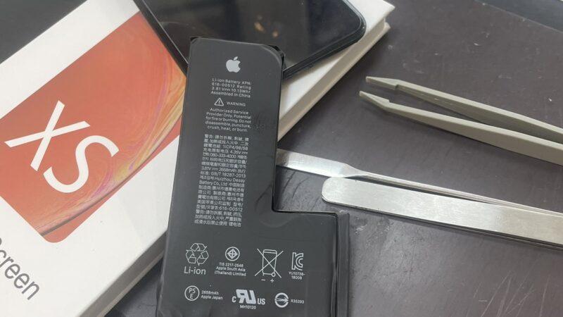 八尾市からお越しのお客様のiphoneXS画面割れ修理・バッテリー交換を行いました!